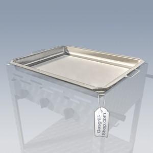 Grillpfanne Edelstahl in 3-er Breite für Gastrobräter